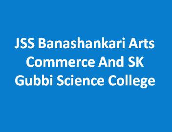 JSSBACSKGSC-JSS Banashankari Arts Commerce And SK Gubbi Science College