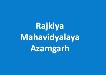 RM-Rajkiya Mahavidyalaya Azamgarh