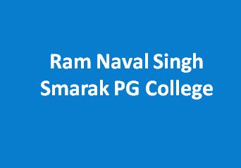 RNSSPGC-Ram Naval Singh Smarak PG College