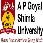 APGSU-AP Goyal Shimla University