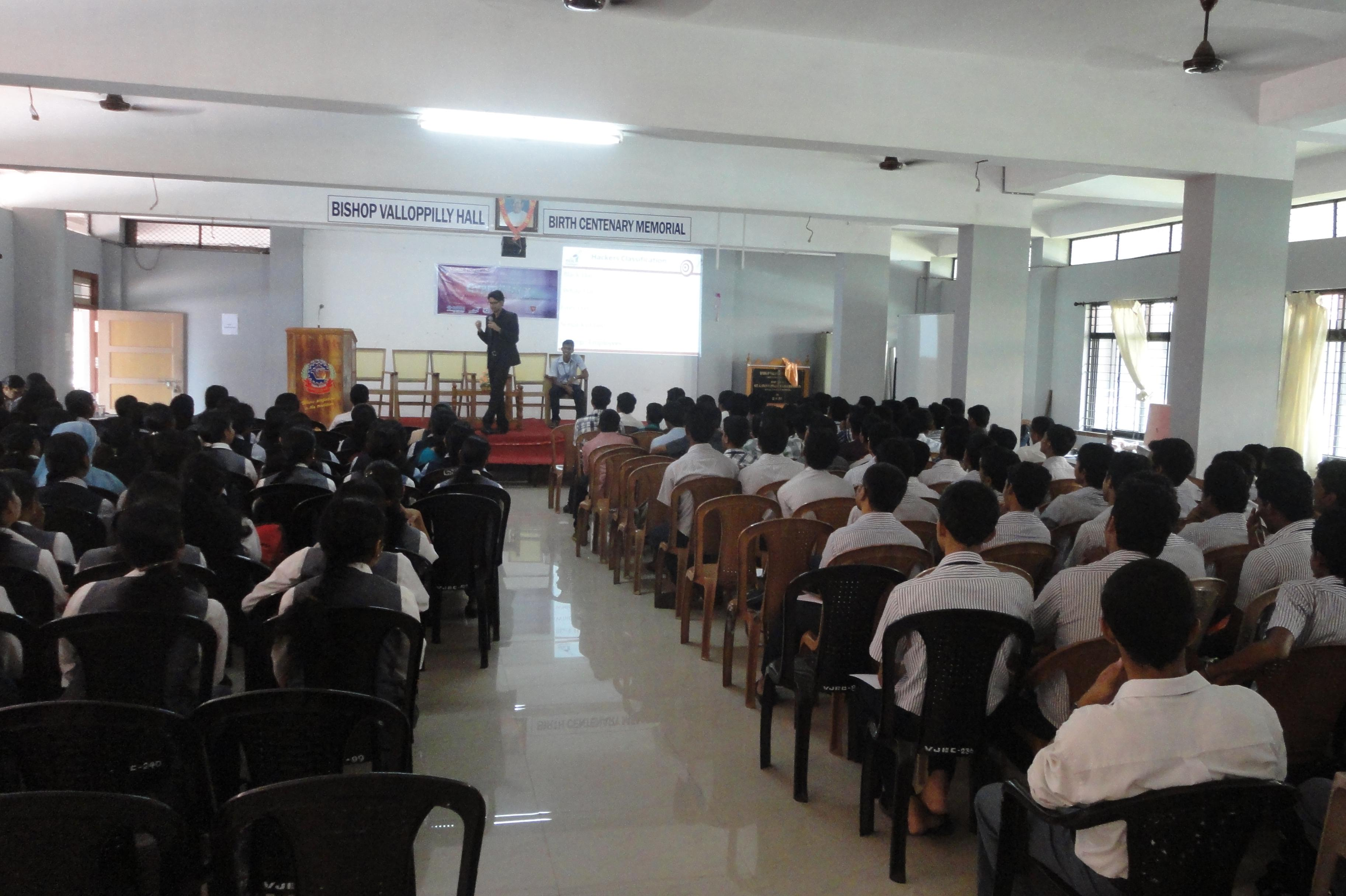 Ethical Hacking and Cyber Forensics workshop at Vimal Jyothi