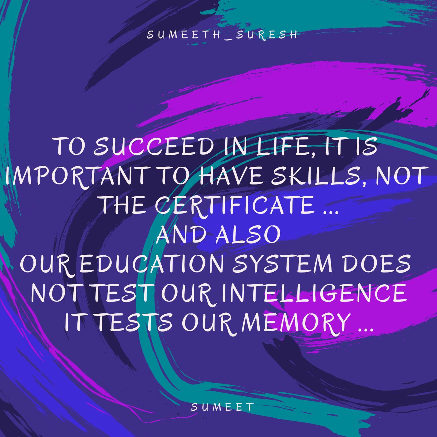 To Succeed In Life...- SUMEET KUMAR