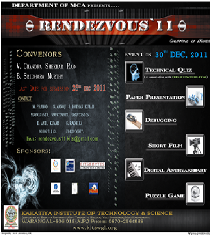 Rendezvous 11, Technical Fest