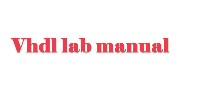 vhdldcs2 lab manual