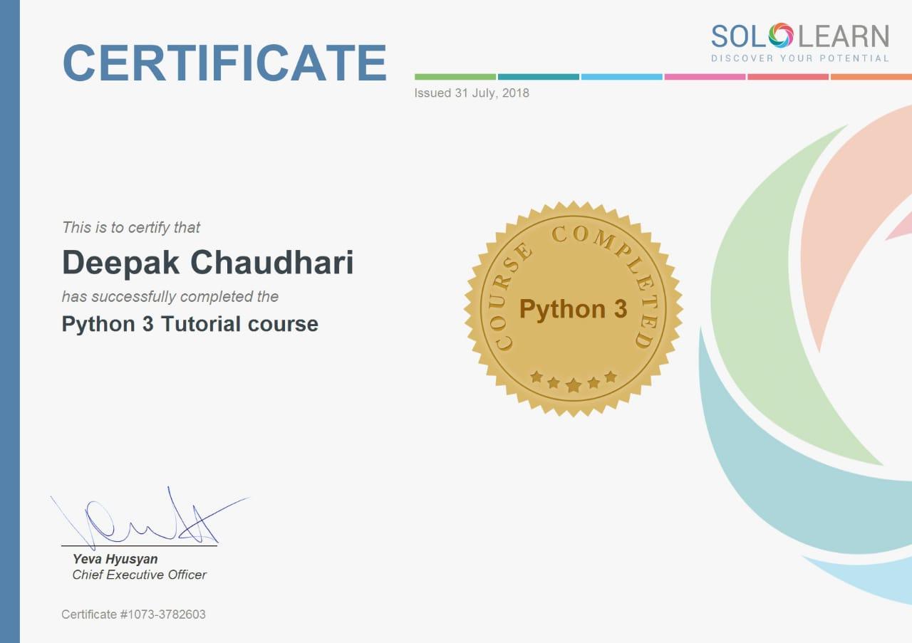 Python Certificate Online