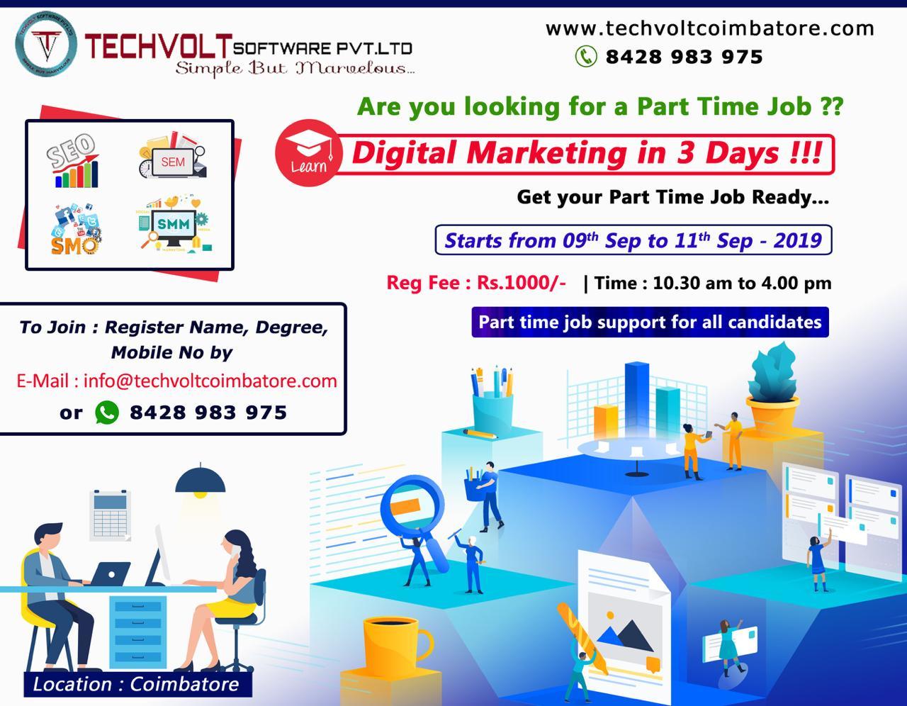 Digital Marketing In 3 Days Internship || B.E || Final Year Students || Coimbatore || Gandhipuram