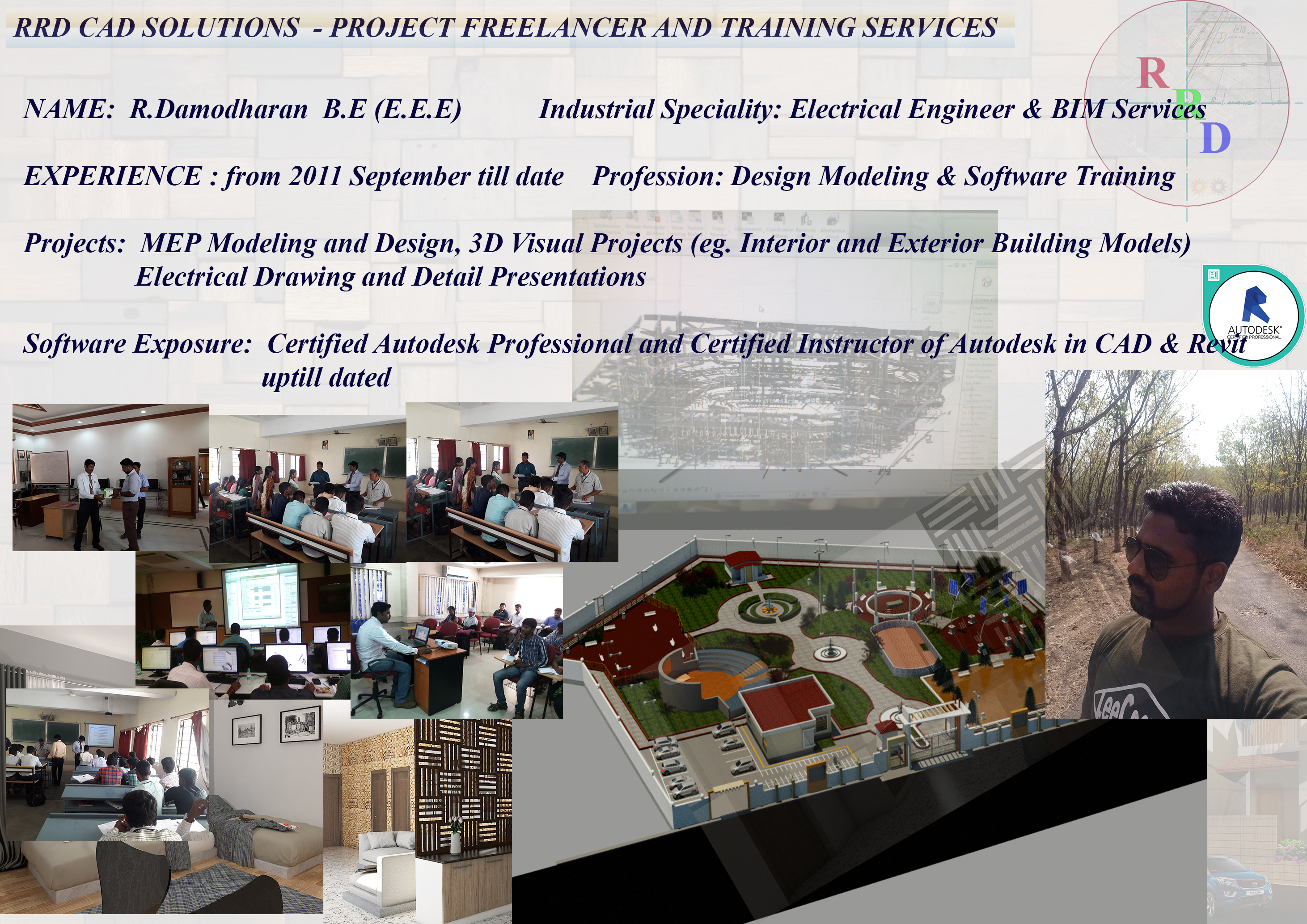 Damodharan - RRD CAD Solutions - PMC Design Consultants & Training Services