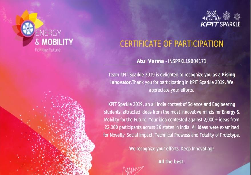 KPIT Sparkle- Rising Innovator