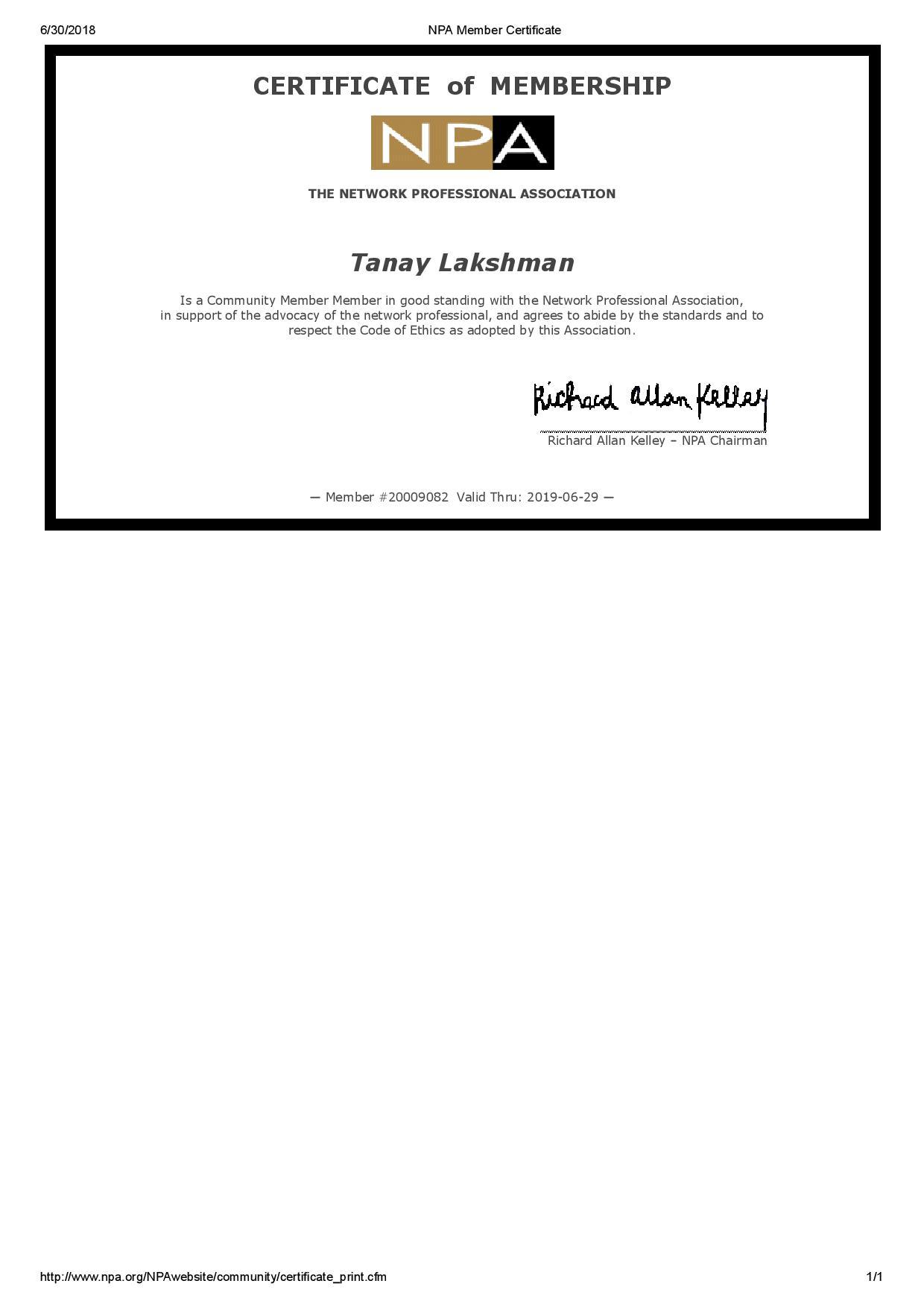 Tanay Lakshman