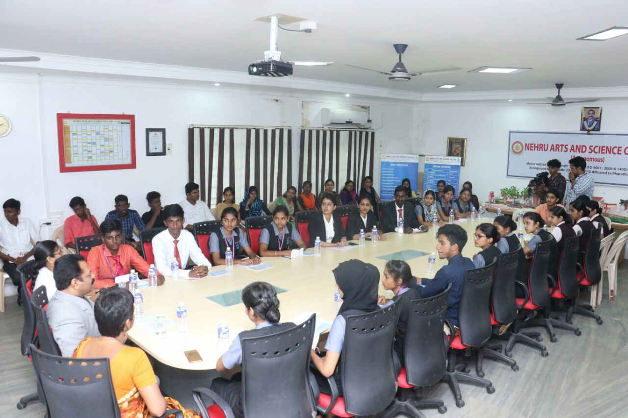 group discussion in board room