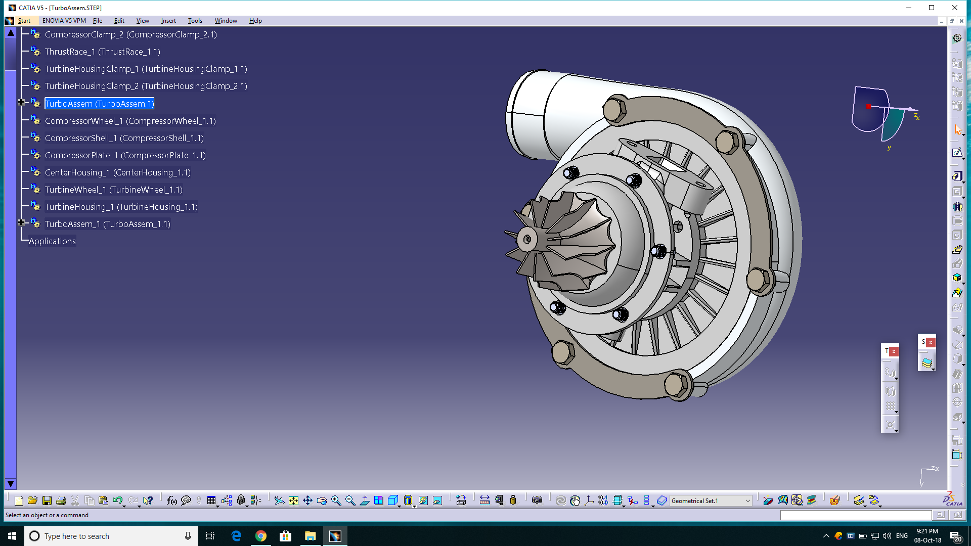 DESIGN AND ANALYSIS OF TURBO CHARGER
