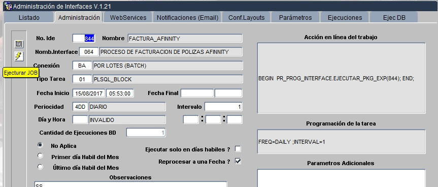 Proyecto de Facturación de Póliza Empleados Afinitty