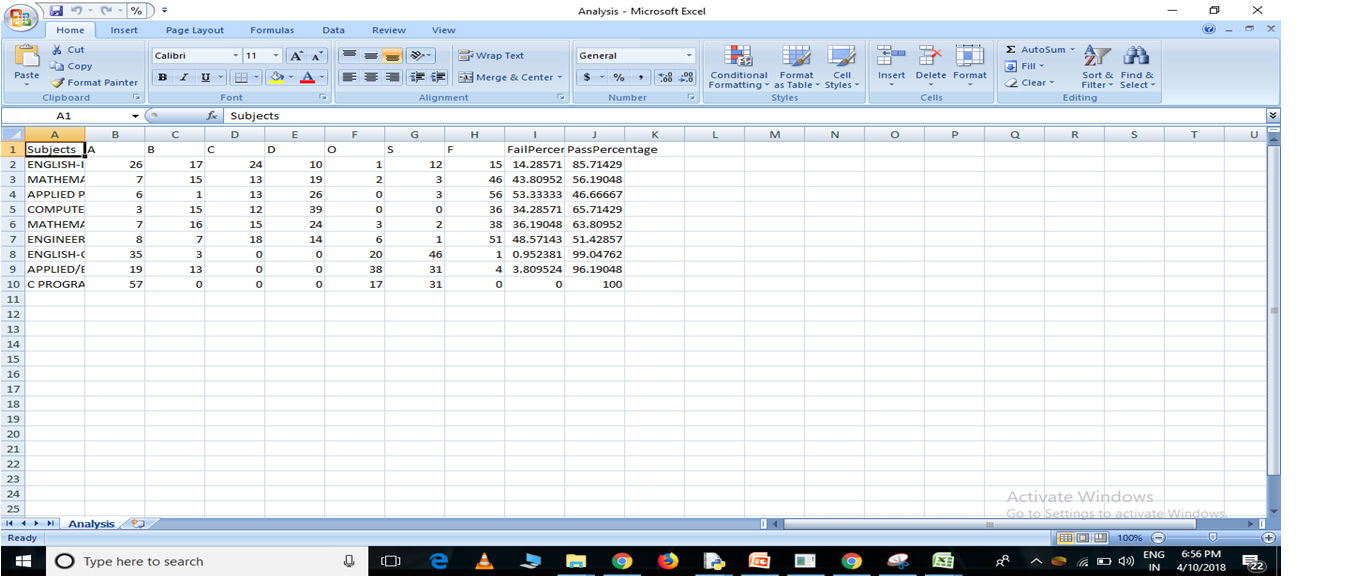 Output2 to excel