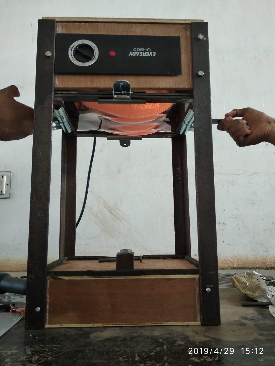 Vacuum forming setup