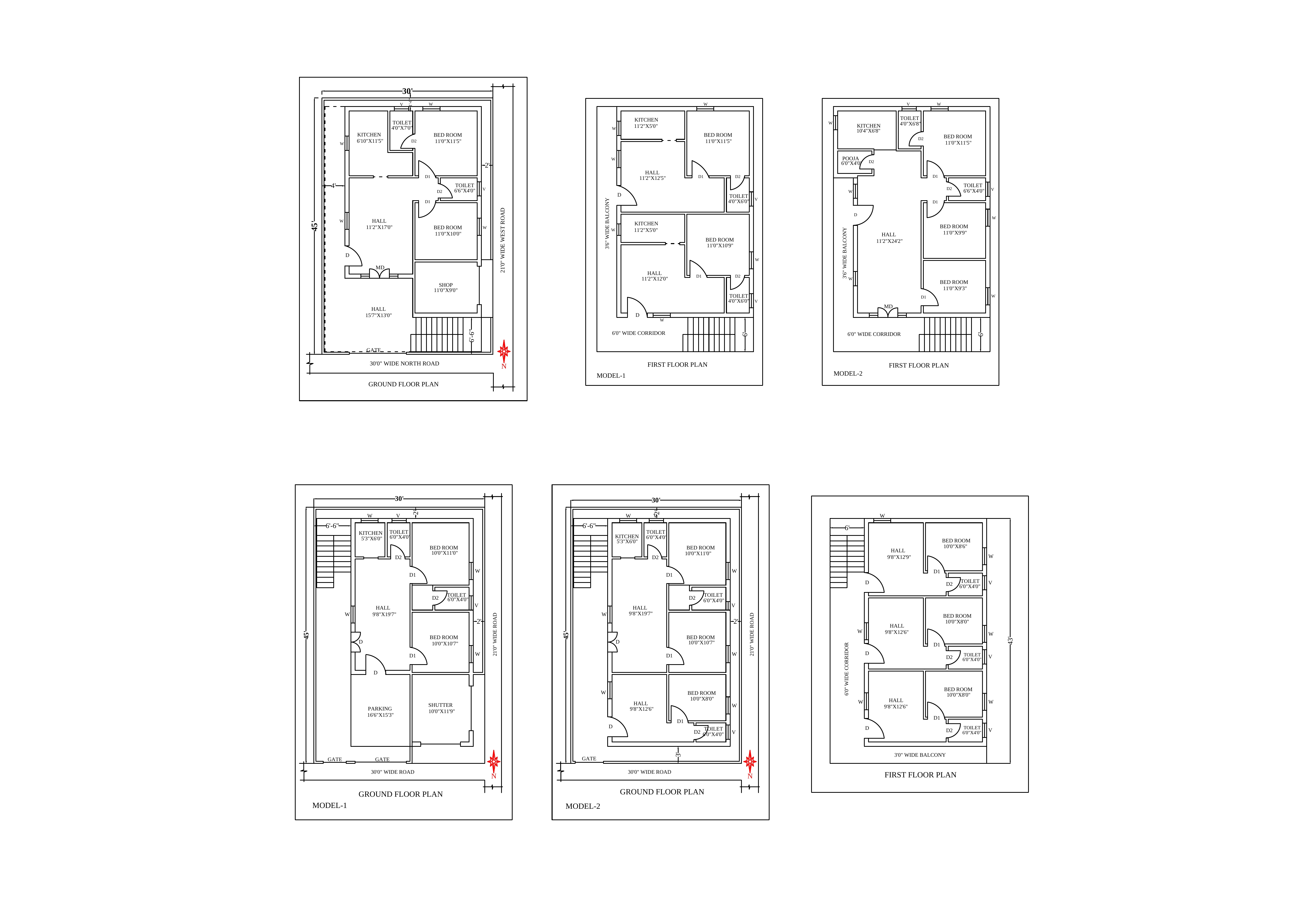 A sample building plan of ground floor and flirst floor in 150 SQY