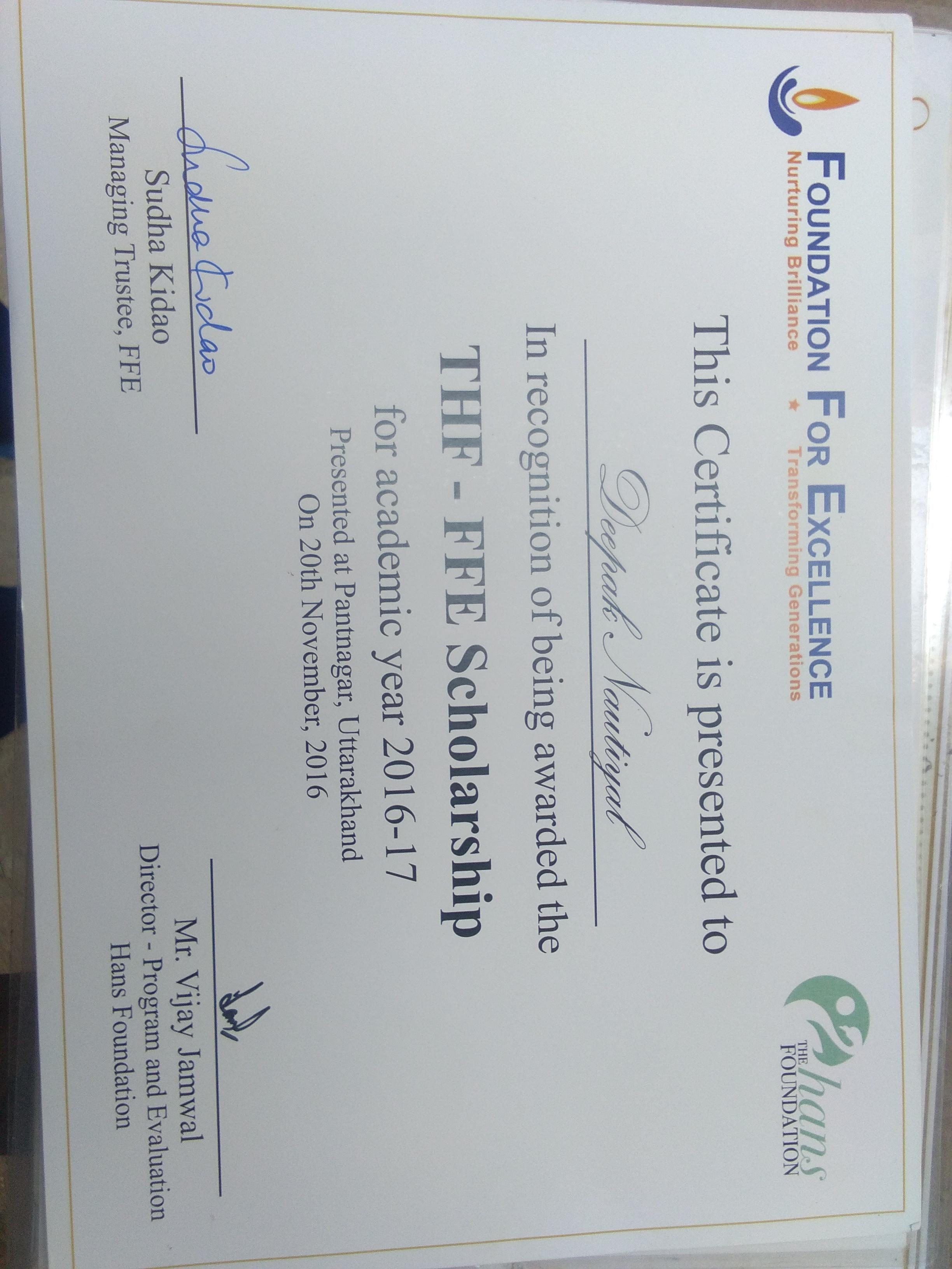 FFE scholarship