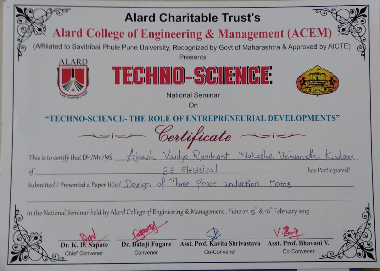 Paper published on TECHHO-SCINCE