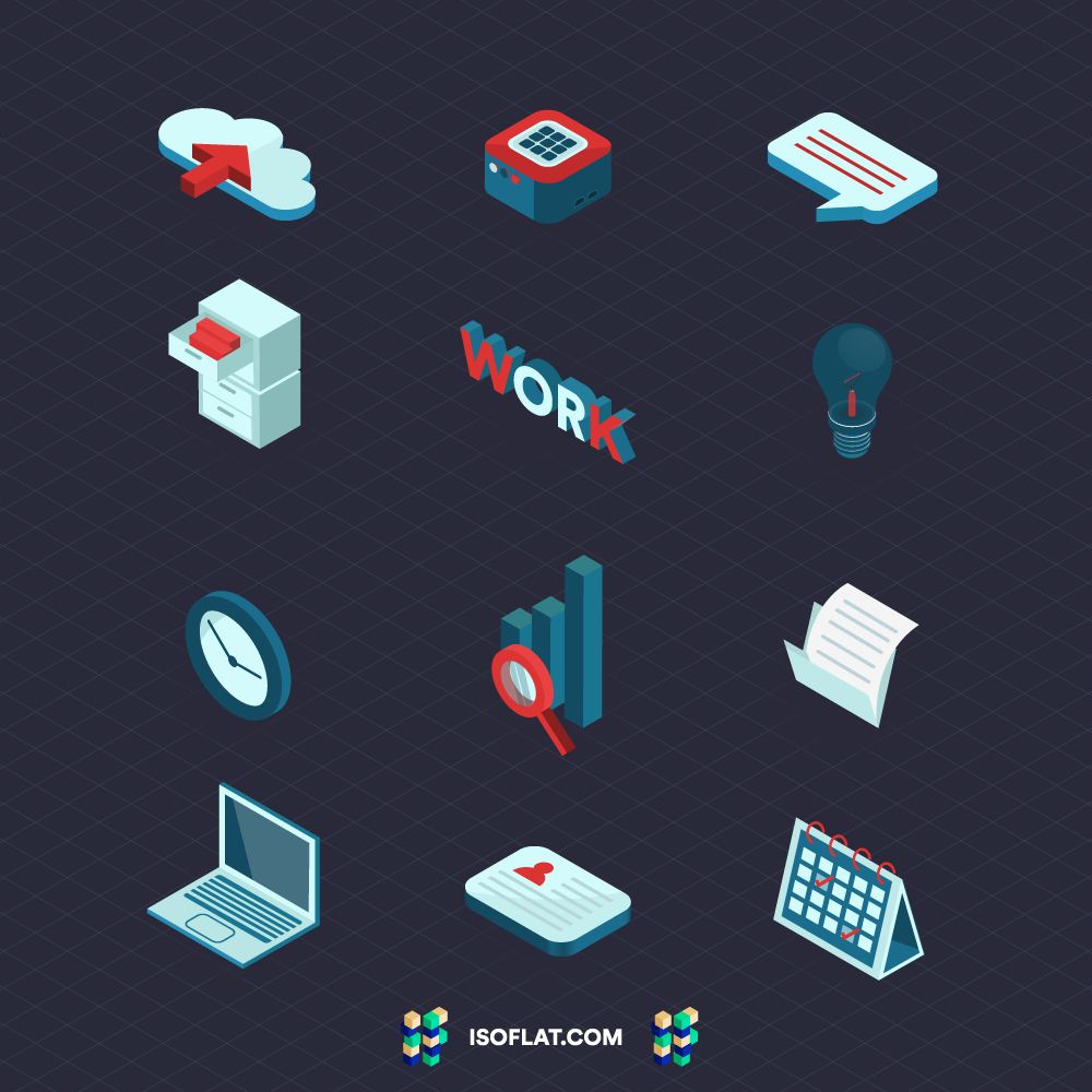 Isometric Business Icon Pack