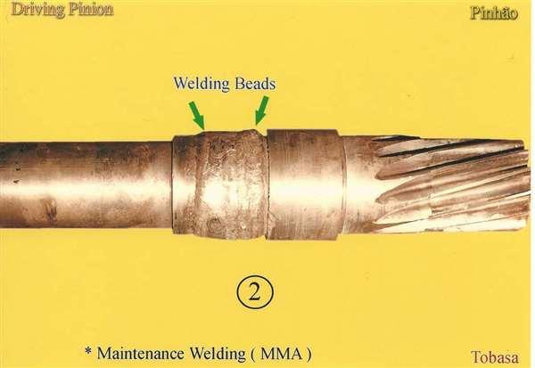 Maintenance - Repair Welding -Driving Pinion