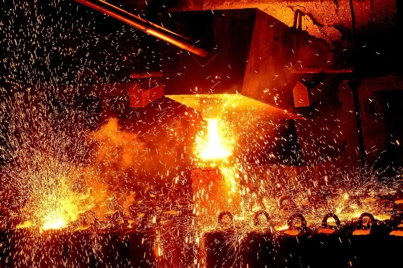 Melting furnace at Rana Steel