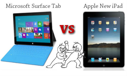 Microsoft Surface Tablet vs. Apple ipad