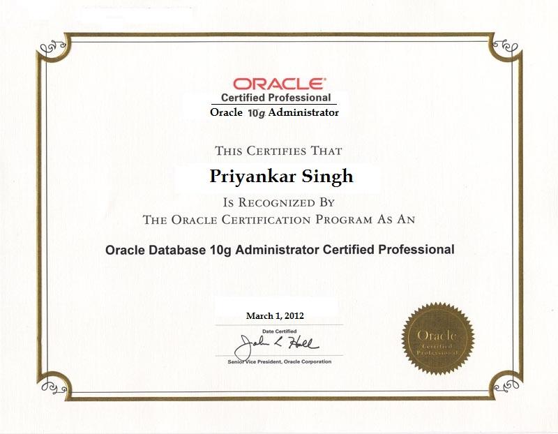 Oracle Cetified DBA
