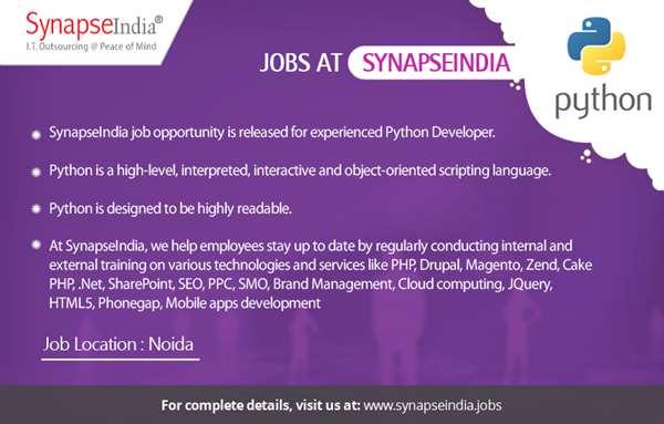 SynapseIndia Job: Hiring for Python Developer | SynapseIndia
