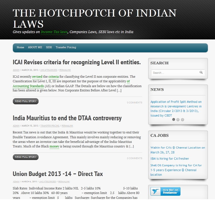 The Hotchpotch of Indian Laws