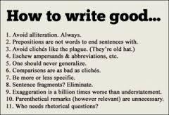 How to write correct English...