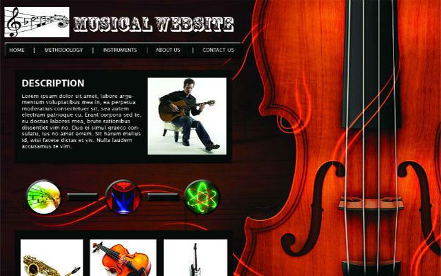 Music store website design