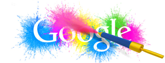 Google Holi Doodles - Then and Now !!