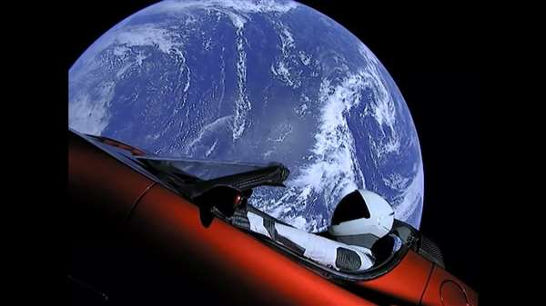 The car send to Space