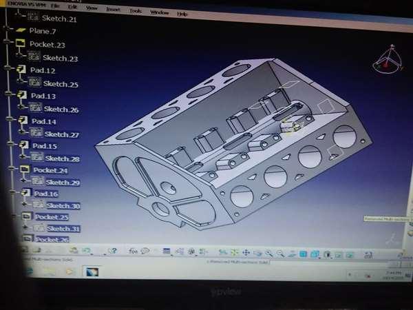 engine block designed in catia v5
