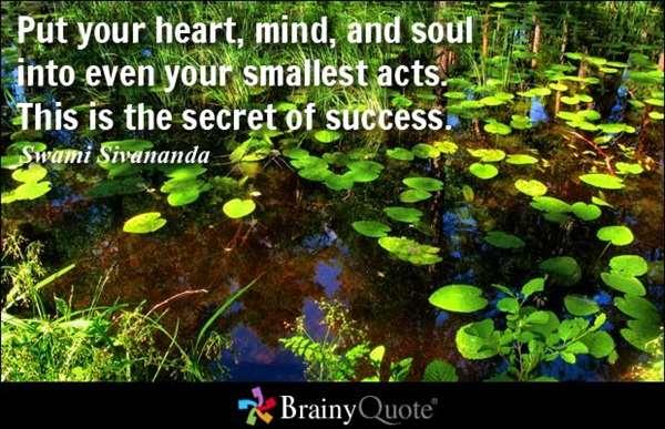 Positive attitude is the key towards success