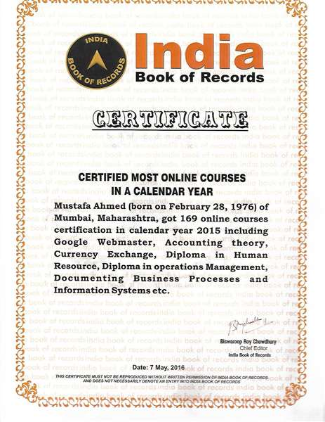 CERTIFIED MOST ONLINE COURSES IN A CALENDAR YEAR-2015