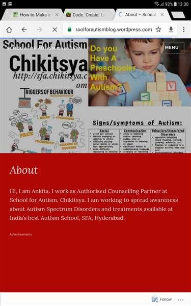 School for Autism Hyderabad
