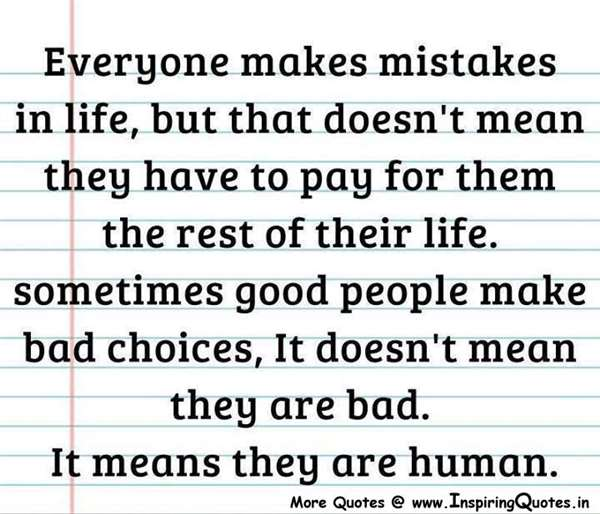 MISTAKES AND INSULTS