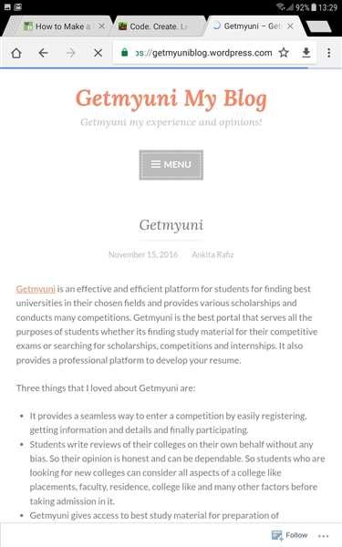 Getmyuni blog