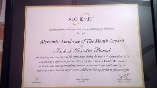 best employee  award.