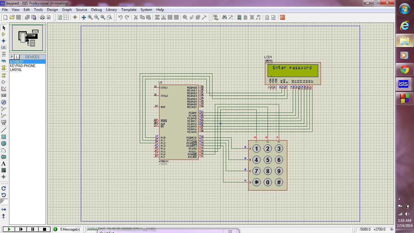 Keypad programming using AT89c51 Microcontroller
