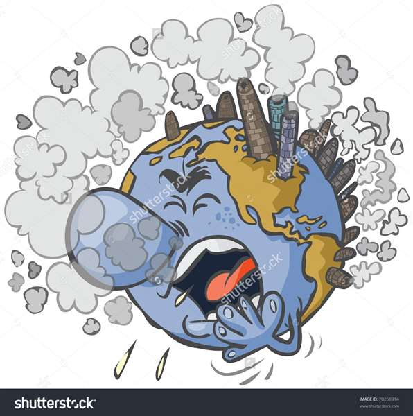 'Earth having a Cough'