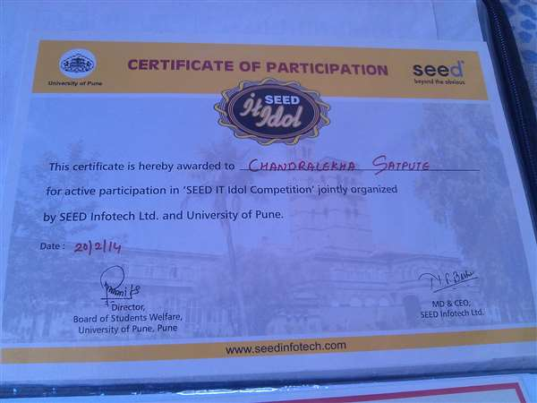SEED IT Idol compitition