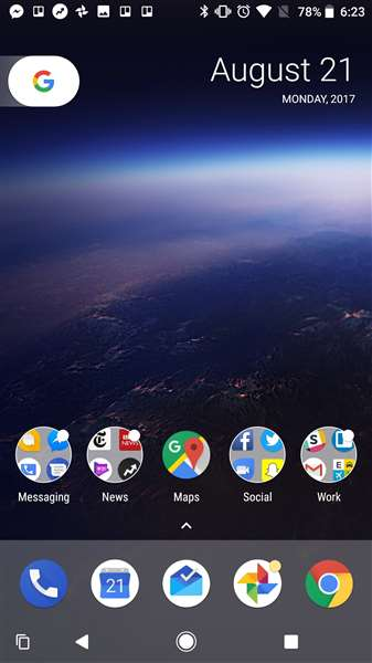 home screen android 8