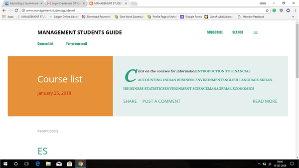 MANAGEMENT STUDENTS GUIDE