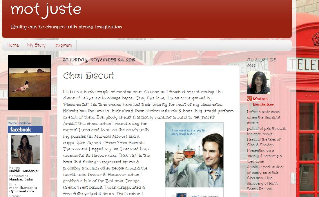 Chai Biscuit- Looking at routine products, the 'Marketing Mix' style