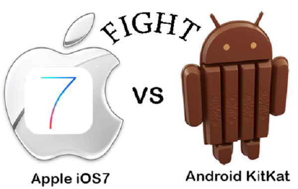 iOS7 Vs Android Kit-Kat: The War Is On! Who do you think is Going to Win the Battle?
