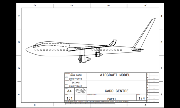 CATIA V5 (Four engine aircraft model)
