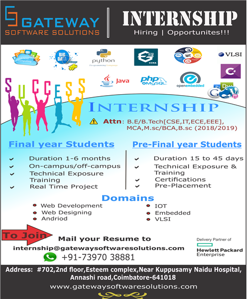 Final Year Students Technical Training + | Gateway Software