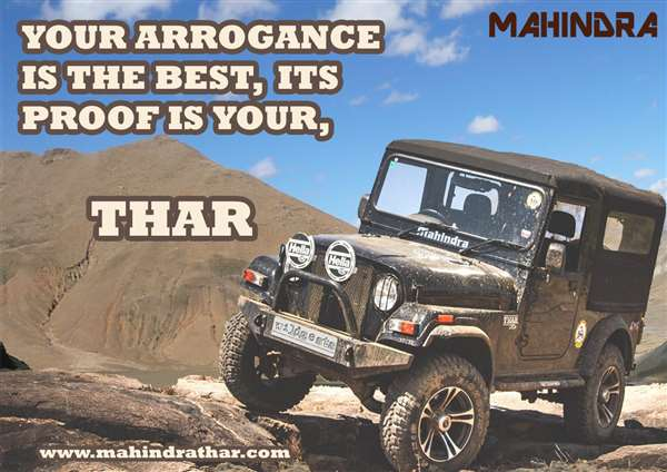 Made an advertising campaign for Mahindra Thar as an academic project