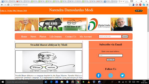 website for Indian goverment